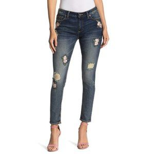 NWT MISS ME Floral Embroidered Skinny Jeans